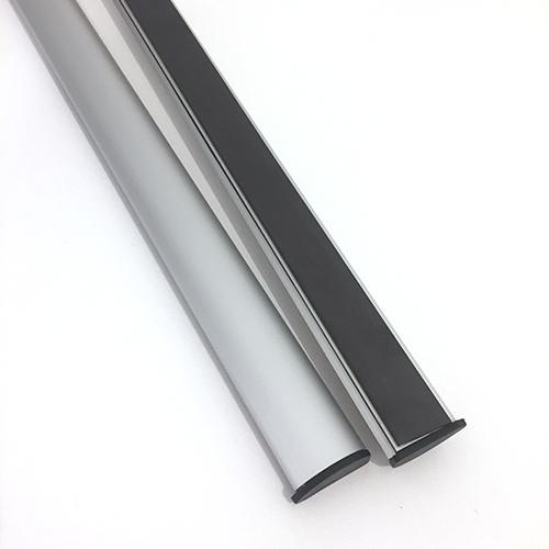 Porte affiche aluminium clippant magnétique ( de 210 mm à 2000 mm)