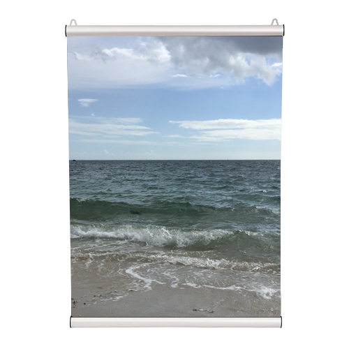 Porte affiche aluminium clippant (de 210 mm à 2000 mm )