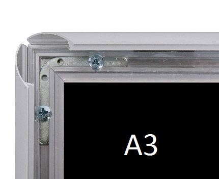 Cadre aluminium mural A3