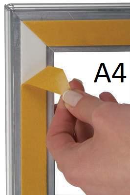 Cadre clippant pour vitre aluminium A4 (210 x 297 mm)