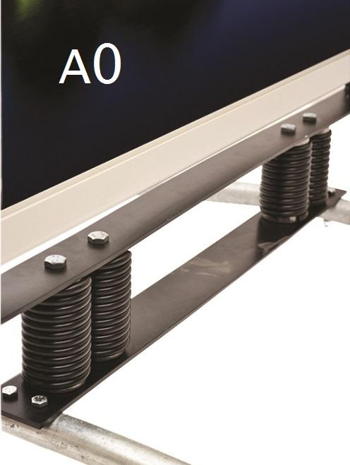 Chevalet de rue sur ressorts en aluminium A0