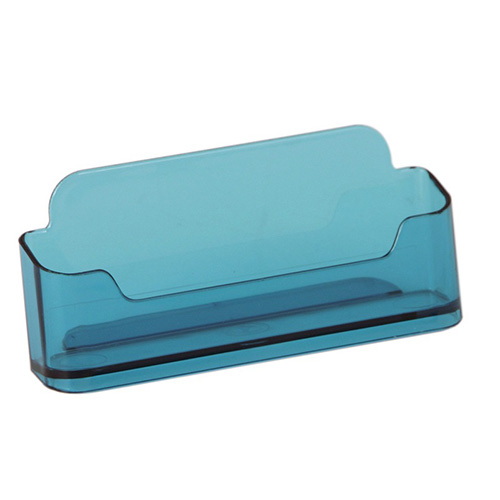 Présentoir carte de visite comptoir horizontal bleu