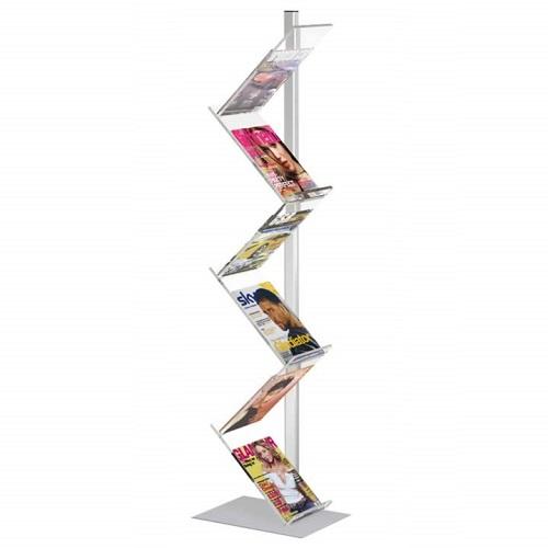 Présentoir zigzag 6 compartiments A4 (plexi massif).