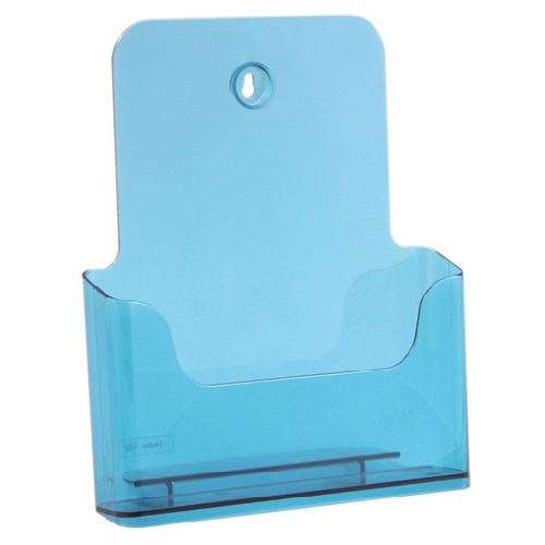 Présentoir de brochures comptoir pour documents A4 (Bleu)