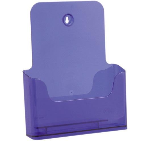 Présentoir de brochures comptoir pour documents A4 (Violet)