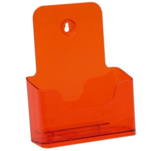 Présentoir de brochures comptoir pour documents A5 (Orange)