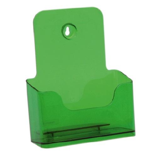 Présentoir de brochures comptoir pour documents A5 (vert)
