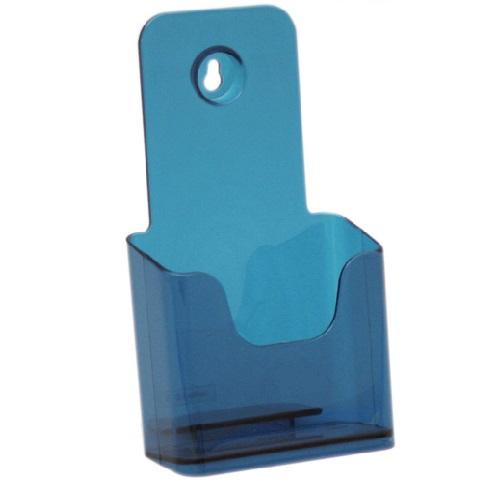 Présentoir de brochures comptoir pour documents A6 (Bleu)