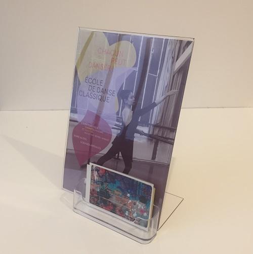 Porte visuel A5 + porte carte de visite