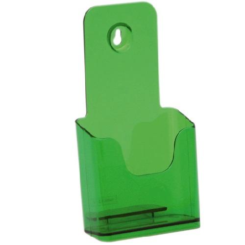 Présentoir de brochures comptoir pour documents A6 (Vert)