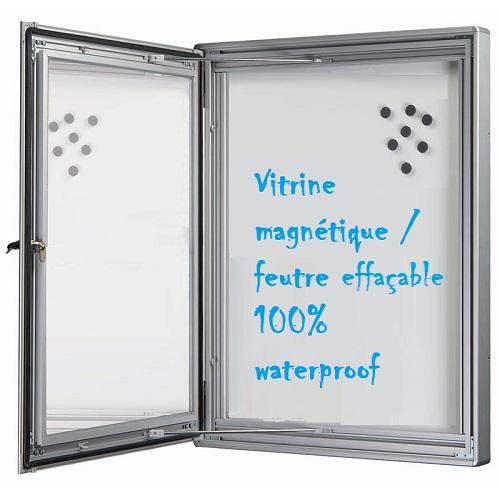 Vitrines d'affichage intérieure/ extérieure pour 4 ou 6 affiches formats  A4.